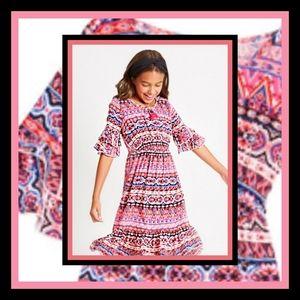 New! Fabkids Geo Print Midi Dress